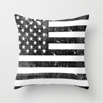 dirty-vintage-black-and-white-american-flag-pillows